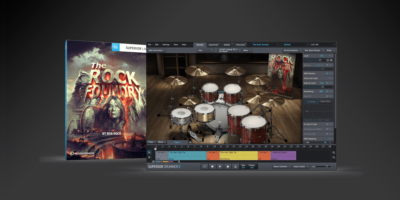 New from Toontrack The Rock Foundry with Bob Rock