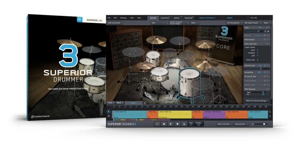 Toontrack Announces Superior Drummer 3 Drum Production Software