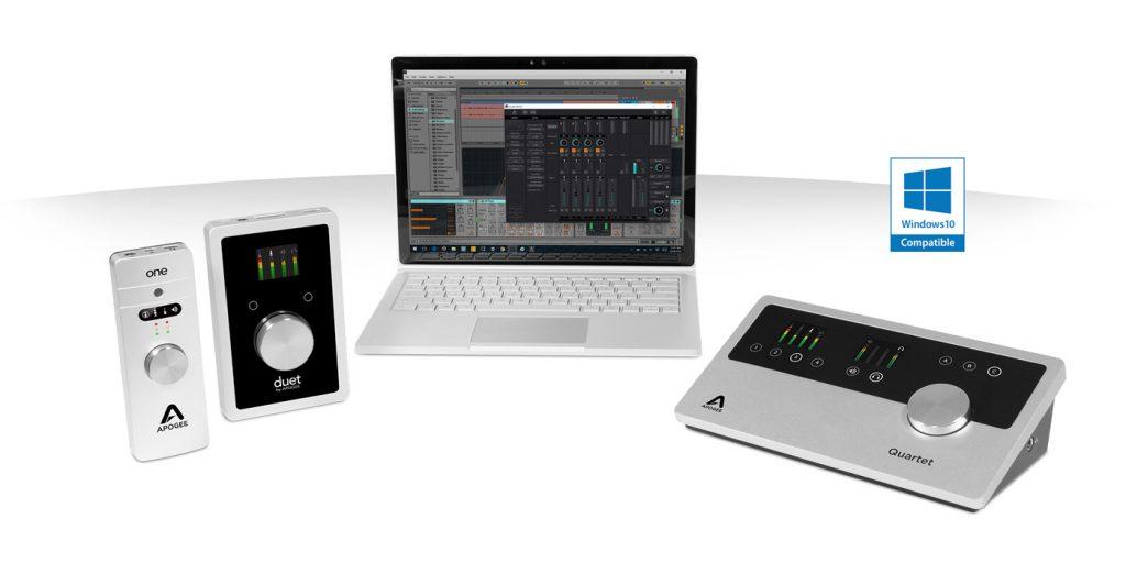 Apogee Announces Windows 10 Compatibility Portable Audio Interfaces