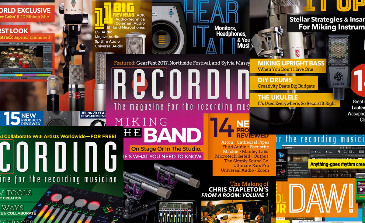 recording magazine the magazine for the recording musician. Black Bedroom Furniture Sets. Home Design Ideas