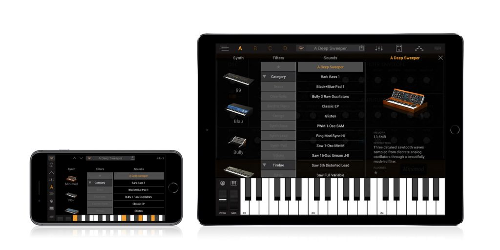 Syntronik Is Now Available for iPhone iPad