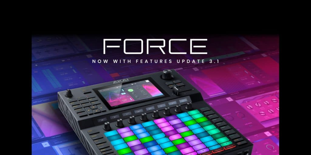 Akai Professional Announces Force Feature Update 3.1 With New Instruments and Effects, Disk Streaming, Usb Audio Interface Support, and More