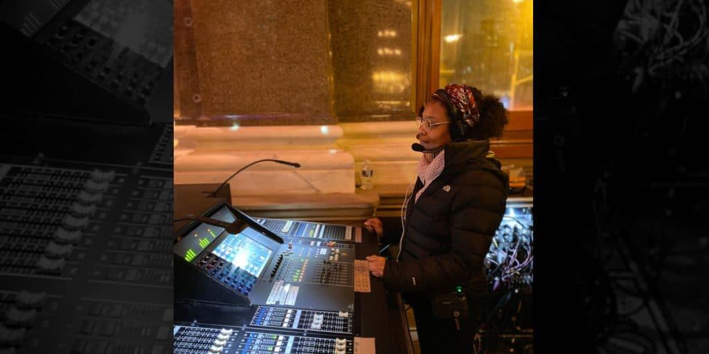 Audio Engineer Reya Harris Zooms CRAS AES Students