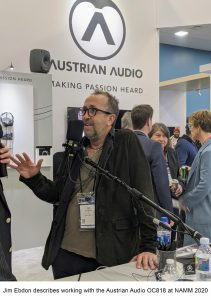 Jim Ebdon describes working with the Austrian Audio OC818 at NAMM 2020