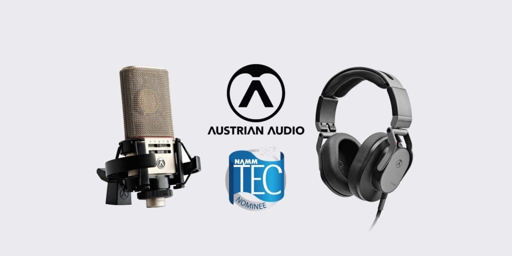 Austrian Audio 36 NAMM TEC nominee - OC818 & Hi-X55