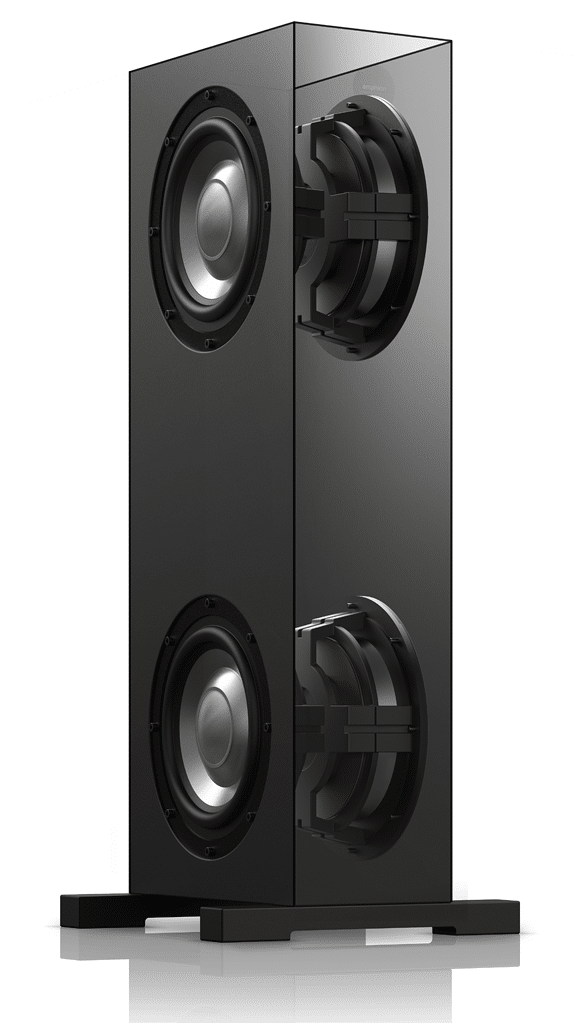 "Amphion extender is equipped with two 10"" back-to-back woofers."