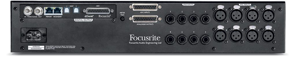 Focusrite ISA 828 Back