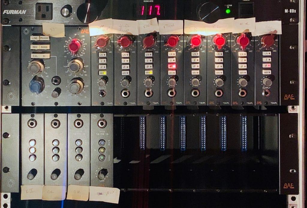 Jake Hayden's BAE Audio gear