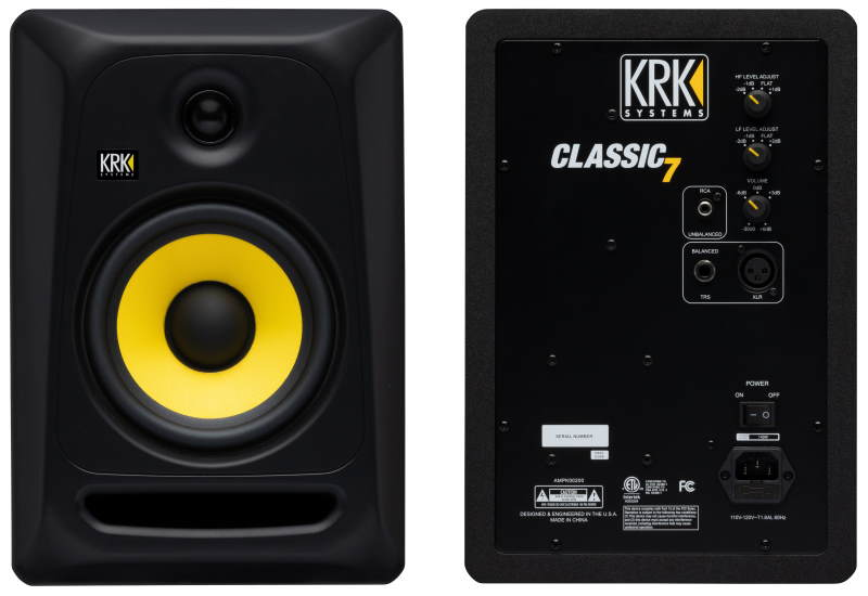 KRK Classic 7 front and back