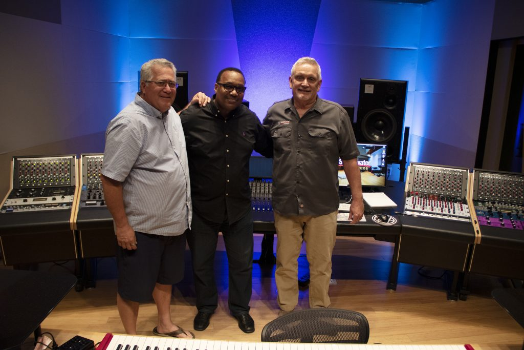 Kevin Wood, Michael McCowin, and Sweetwater Studios Producer/Keyboardist Phil Naish
