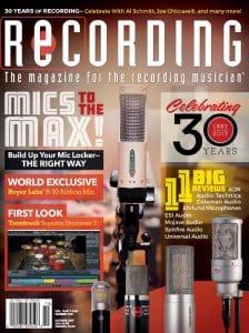 RECORDING Magazine Cover October 2017