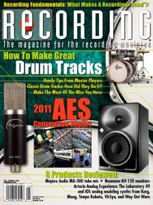 RECORDING Magazine Cover January 2012