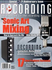 RECORDING Magazine Cover October 2012