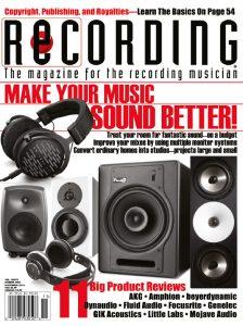 RECORDING Magazine Cover November 2016