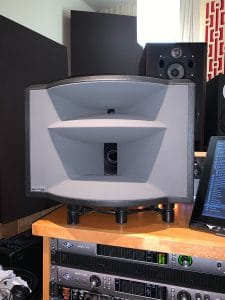 Close up of Ocean Way Audio HR5 studio monitor