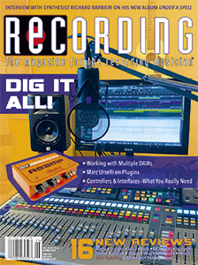 RECORDING June issue cover 2021