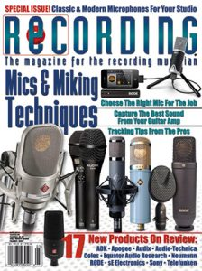 RECORDING Magazine Cover May 2014
