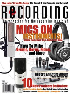 RECORDING Magazine Cover May 2015