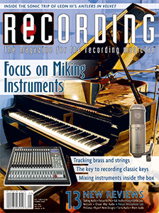 RECORDING Magazine Cover May 2021