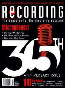 RECORDING Magazine Cover October 2021