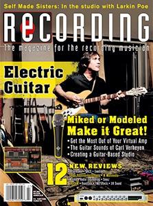 RECORDING Magazine July 2020 Cover