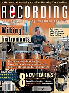 Recording Magazine Cover May 2020