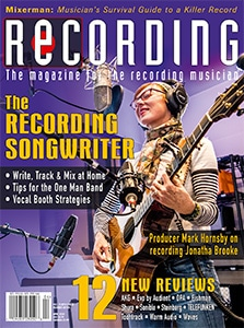 Recording Magazine Cover April 2020