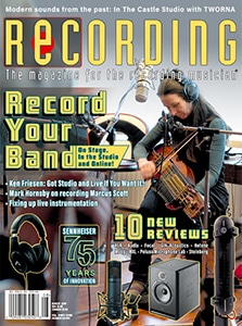 Recording Magazine Cover August 2020
