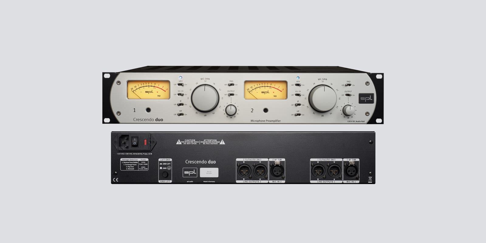 SPL Crescendo duo 2-Channel Microphone Preamplifier