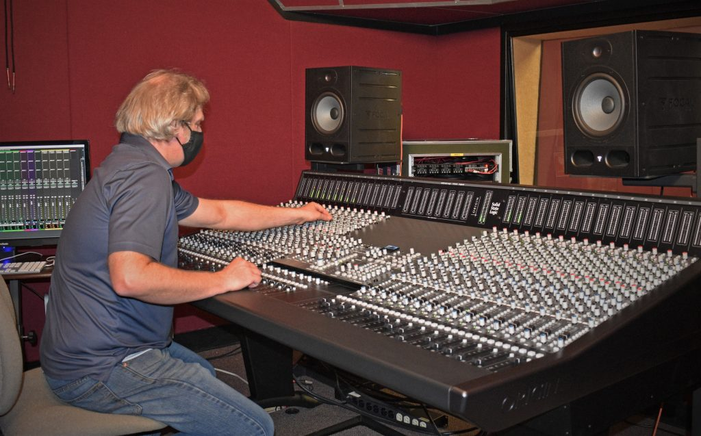 Rick Schmunk at SSL Console