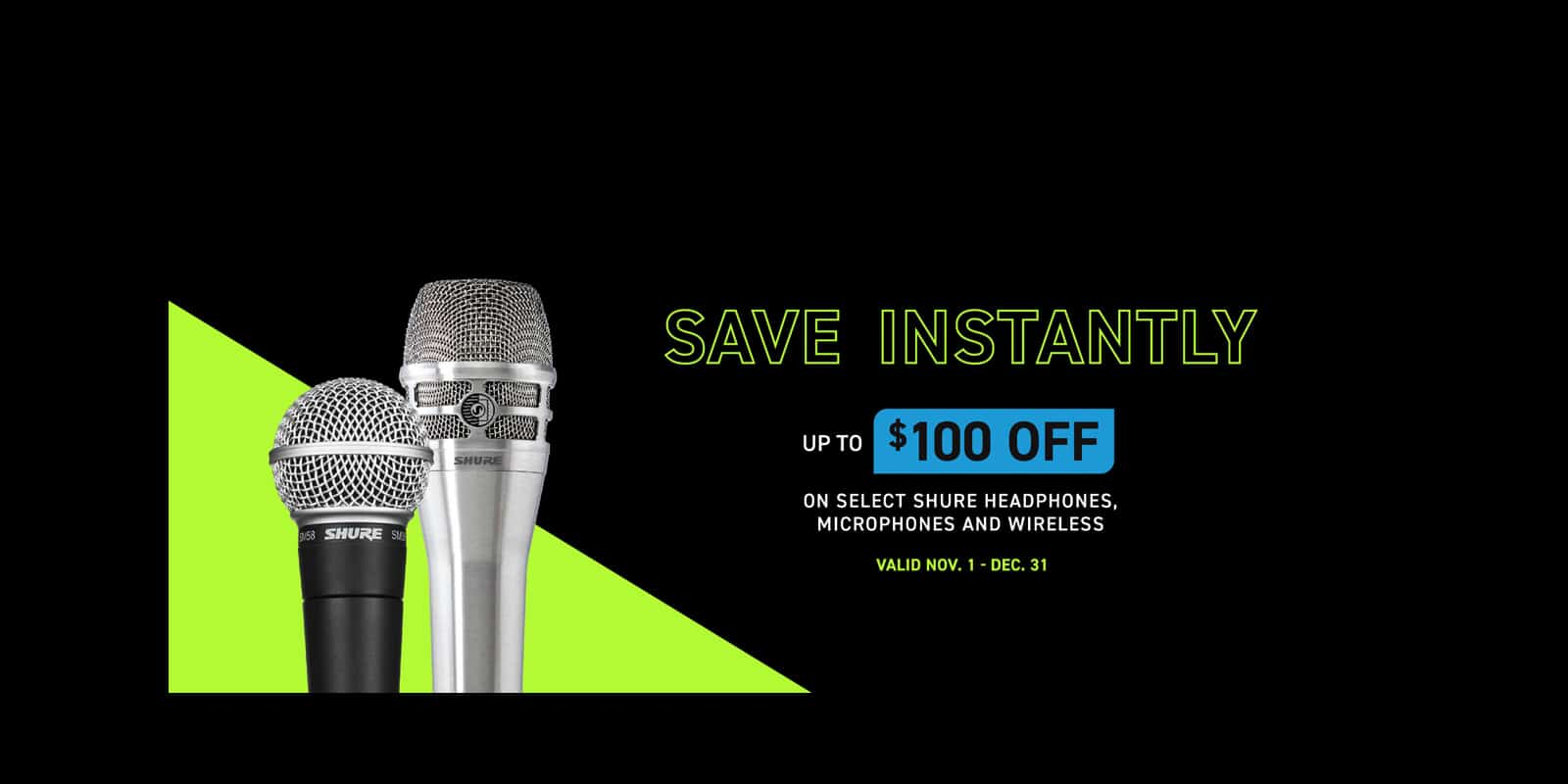 Shure holiday promotions 2020