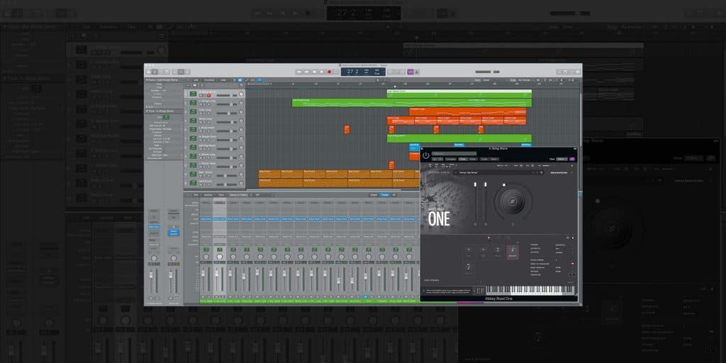Spitfire Abbey Road One Orchestral Foundations window displayed with DAW