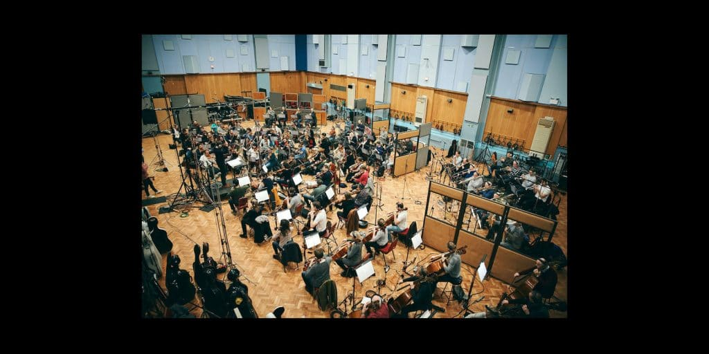 Orchestra in Abbey Road Studios