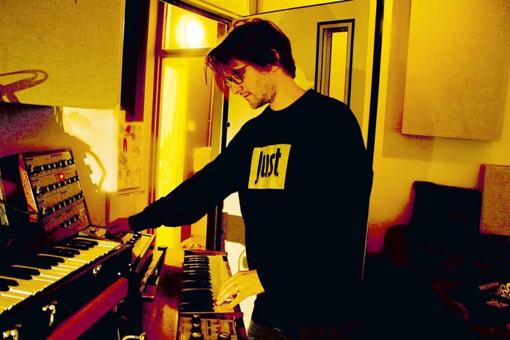 Steve Wilson in the studio