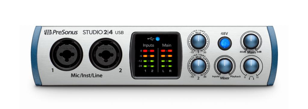 PreSonus Delivers Studio 24 USB-C Portable Interface