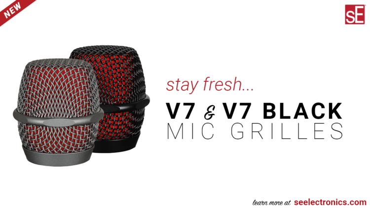V7 and V7 Black mic grilles
