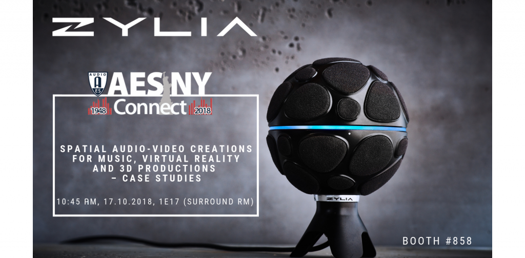 Zylia to Present Immersive Audio-Video Creation Case Studies at AES New York 2018