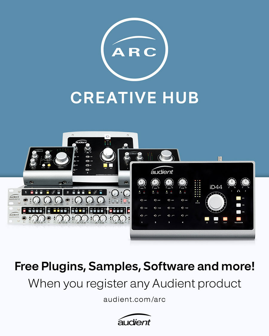 Audient ARC: Free Plugins, Samples, Software and More! When you register any Audient product