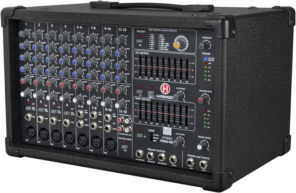 Harbinger LP7800 Powered Mixer is Ready to Rock