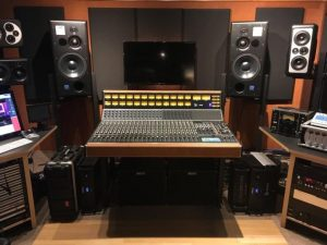 The API 2448 console at the Vintage King Nashville showroom