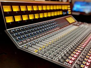 The API 2448 console at the Vintage King Los Angeles showroom