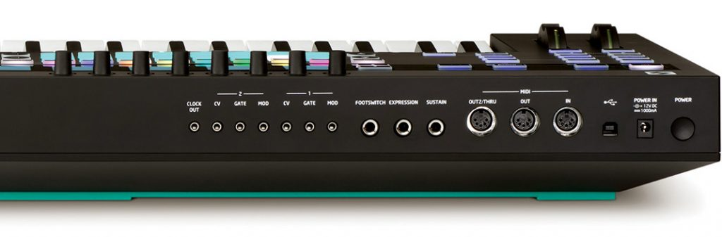 Novation 49SL MkIII Back Panel