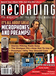 Recording Magazine May Issue Cover