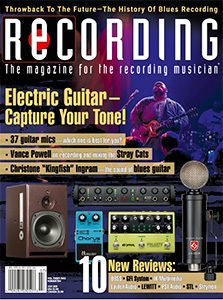 Recording Magazine July issue cover
