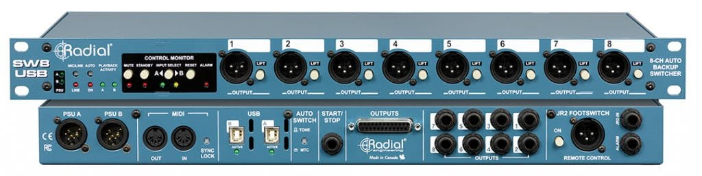 Radial SW8 USB stacked