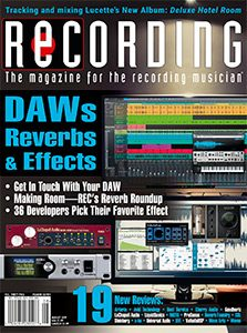 Recording Magazine August issue cover