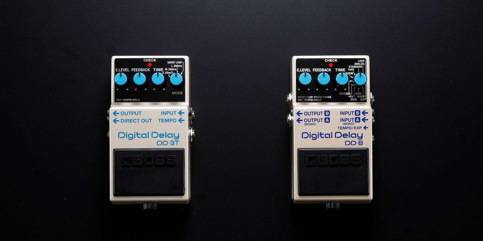 BOSS Announces DD-3T and DD-8 Digital Delay Pedals