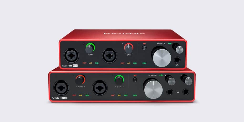 FocusriteScarlett 8i6 & 4i4 3rd Gen USB Audio Interface
