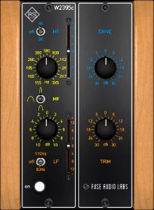 Fuse Audio Labs RS-W2395c GUI