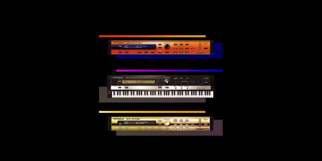 Roland SRX ELECTRIC PIANO, SRX STRINGS, and SRX BRASS